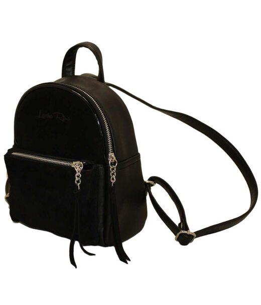 407 рюкзак черный замш н Lucherino