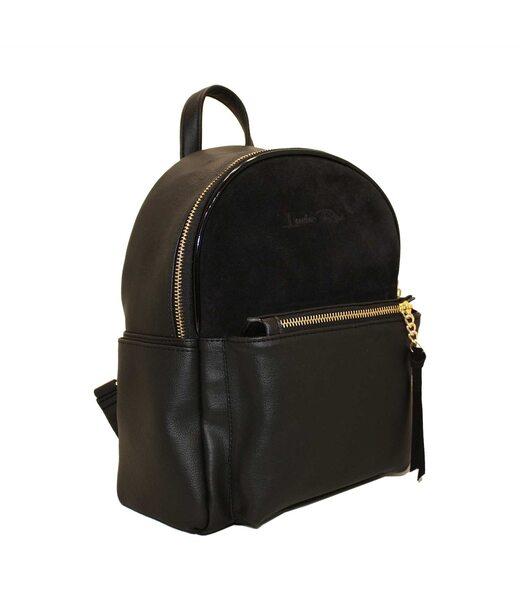 450 рюкзак черный замш Lucherino