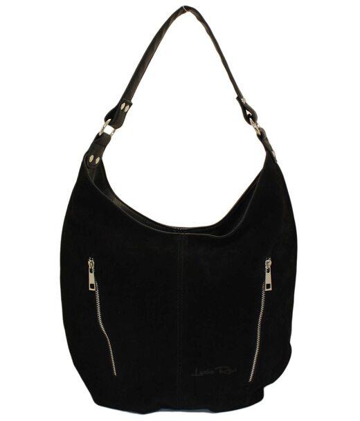 384 сумка замш черная Lucherino