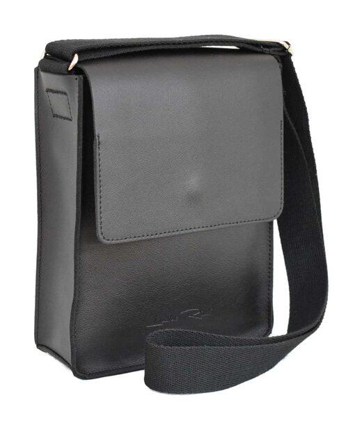 566 сумка кожа черная Lucherino