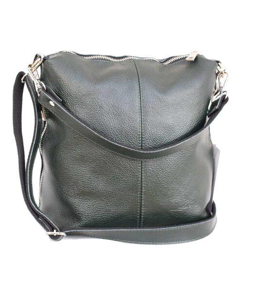 322 сумка кожа зеленая н Lucherino