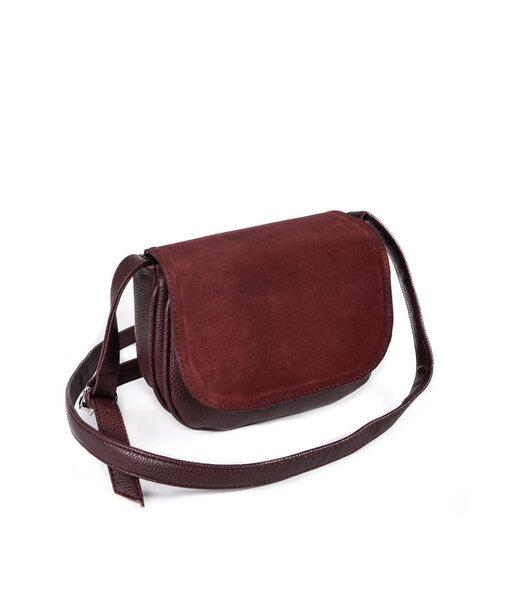 Жіноча сумочка з замшевим клапаном М55-38/замш Камелія