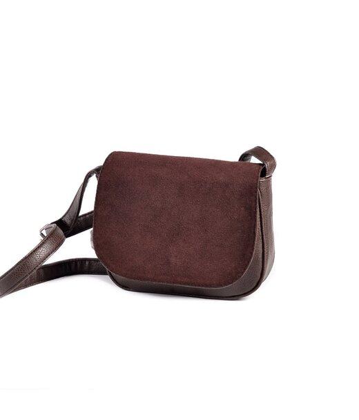 Жіноча сумочка з замшевим клапаном М55-40/замш Камелія