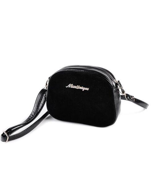 Міні-сумочка круглої форми М174-Z/замш Камелія