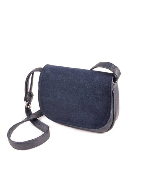 Жіноча сумочка з замшевим клапаном М55-39/замш Камелія