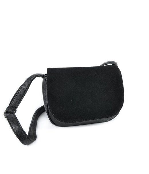 Жіноча сумочка з замшевим клапаном М55-47/замш Камелія