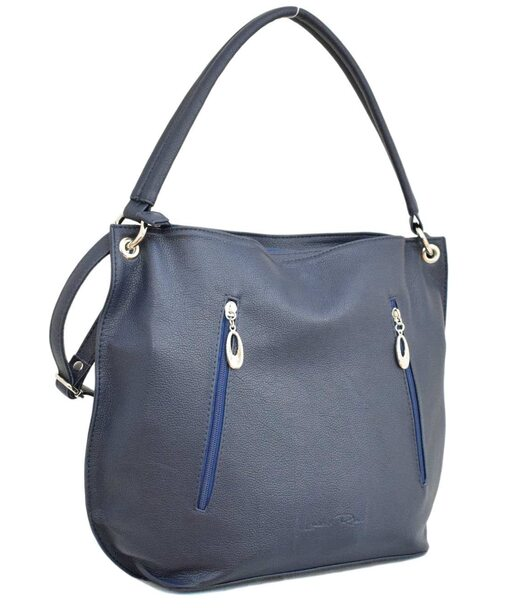 479 сумка синяя мат Lucherino