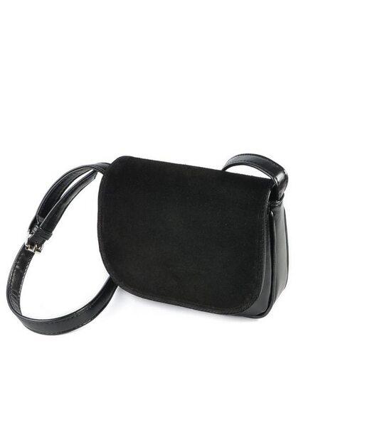 Жіноча сумочка з замшевим клапаном М55-33/замш Камелія