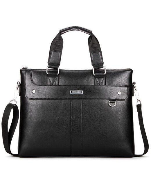 Чоловіча чорна ділова сумка Polo 6606-4