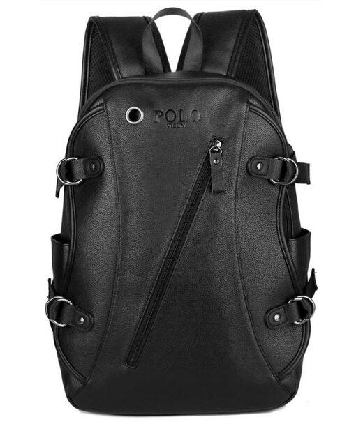 Чоловічий чорний рюкзак Polo 5511