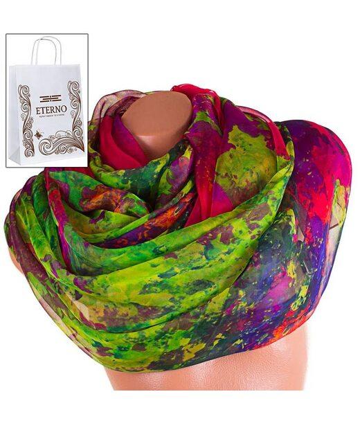 Жіночий кольоровий шарф з шифону ETERNO p-p-74