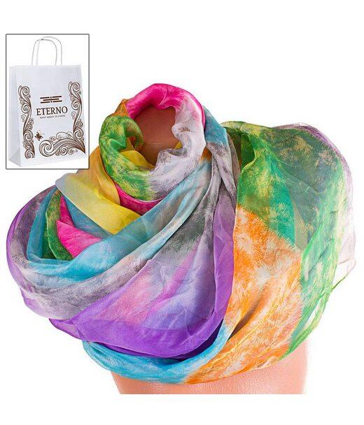 Жіночий кольоровий шарф з шифону ETERNO p-p-73