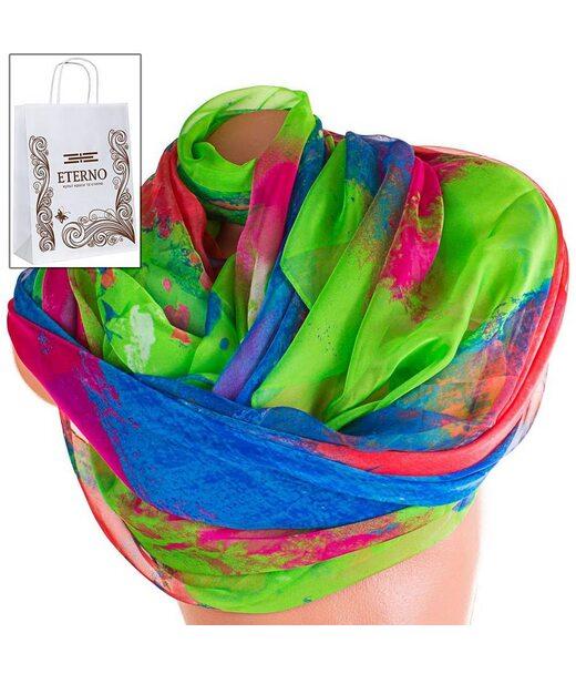 Жіночий кольоровий шарф з шифону ETERNO p-p-76
