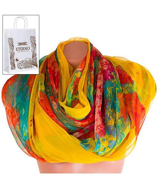 Жіночий кольоровий шарф з шифону ETERNO p-p-59