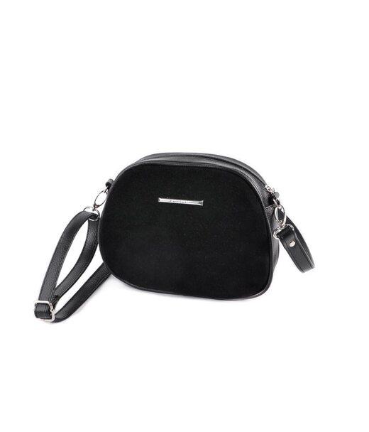 Міні-сумочка круглої форми М174-47/замш Камелія