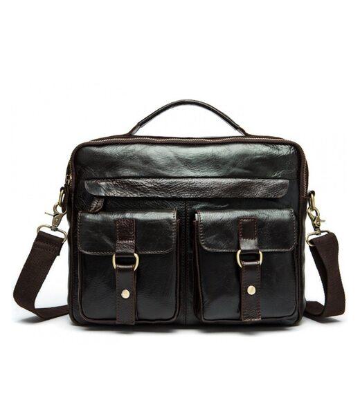 Коричнева шкіряна чоловіча сумка Bexhill BX8001B
