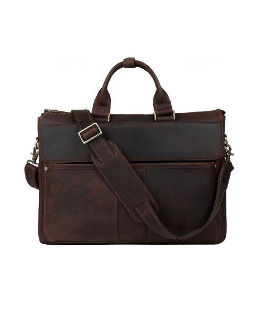 Коричнева шкіряна чоловіча сумка Tiding Bag t1096