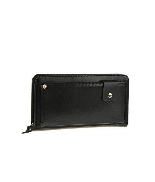 Чорний шкіряний чоловічий клатч Tiding Bag JN9019A