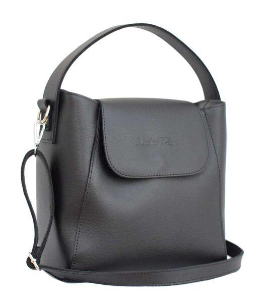471 сумка кожа черная мат Lucherino