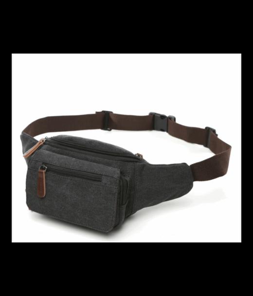 Чорна чоловіча сумка на пояс Tiding Bag 8836A