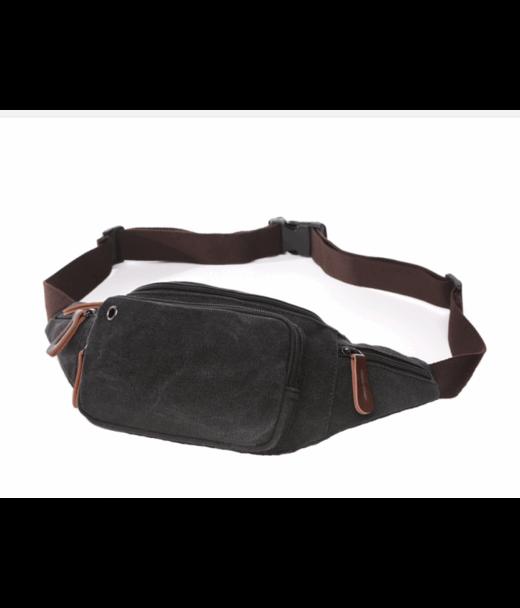 Чорна чоловіча сумка на пояс Tiding Bag 8835A