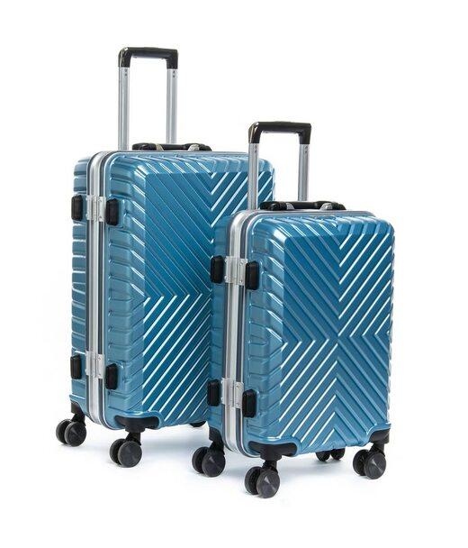 Дорожная Чемодан 2/1 ABS-пластик 07 blue замок Podium