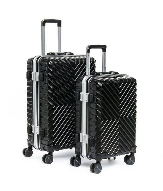 Дорожная Чемодан 2/1 ABS-пластик 07 black замок Podium