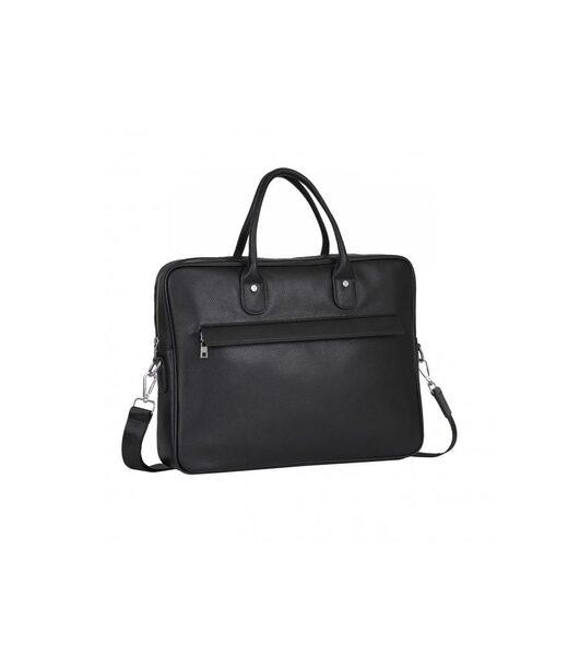 Чорна шкіряна чоловіча сумка Tiding Bag A25-17611A