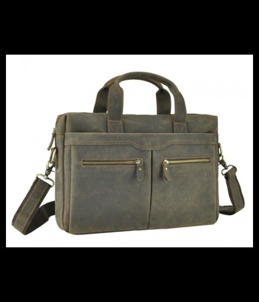 Коричнева шкіряна чоловіча сумка Jasper & Maine 7122R