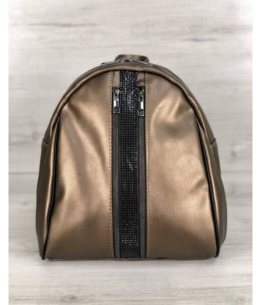 Стильний молодіжний рюкзак Юна бронзового кольору WeLassie