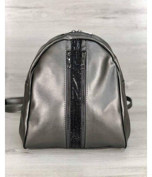 Стильний молодіжний рюкзак Юна срібного кольору WeLassie