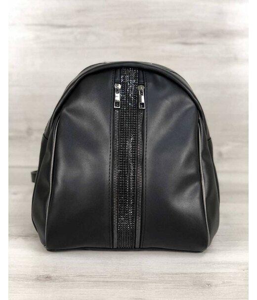 Стильний молодіжний рюкзак Юна чорного кольору WeLassie