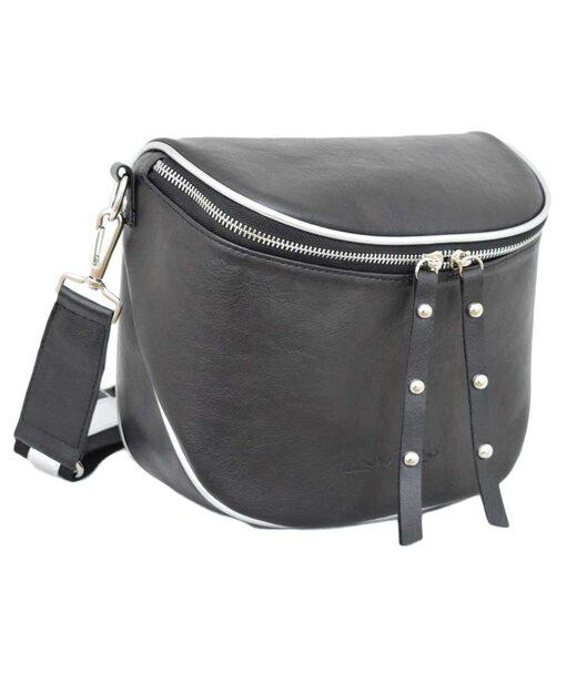 603 сумка чорна т срібло н Lucherino