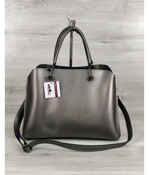 Стильна жіноча сумка Іларія металік WeLassie