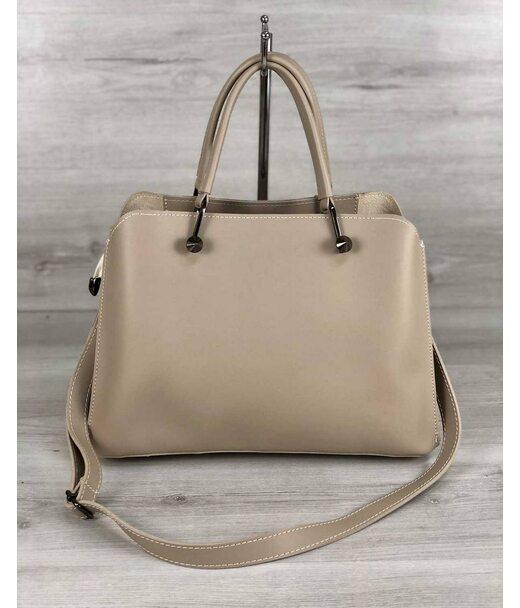 Стильна жіноча сумка Іларія кремового кольору WeLassie