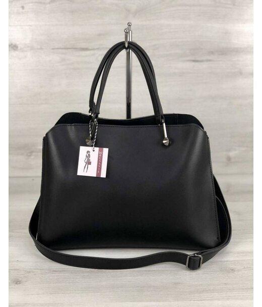 Стильна жіноча сумка Іларія чорного кольору WeLassie