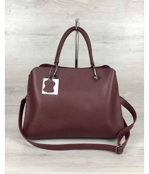 Стильна жіноча сумка Іларія бордового кольору WeLassie