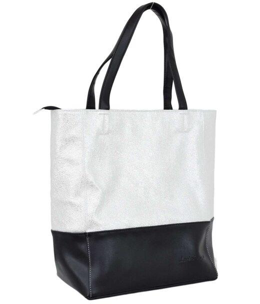607 сумка черная серебро светлое н Lucherino