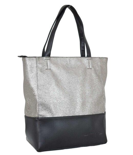 607 сумка черная серебро темное н Lucherino