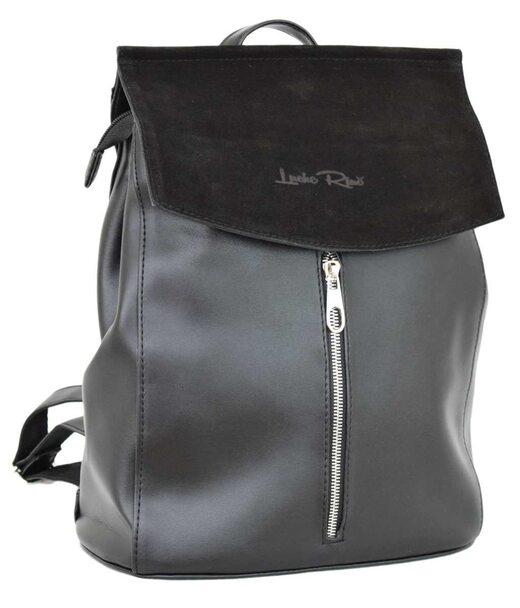 571 рюкзак черний замша г Lucherino