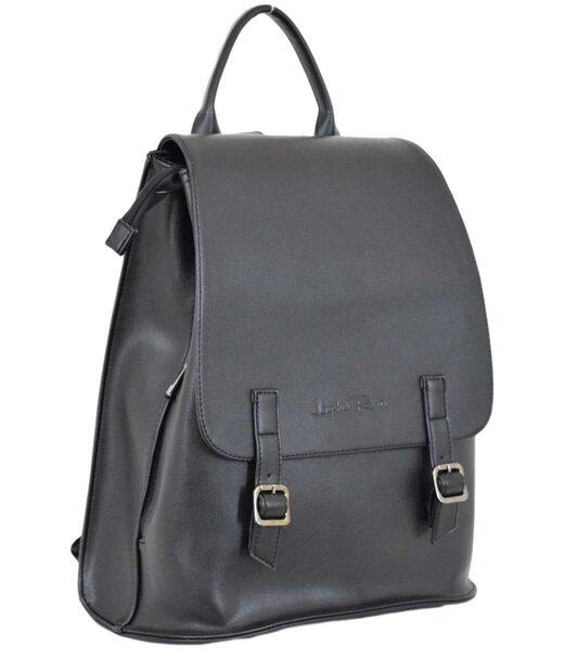 546 рюкзак черная экокожа Lucherino