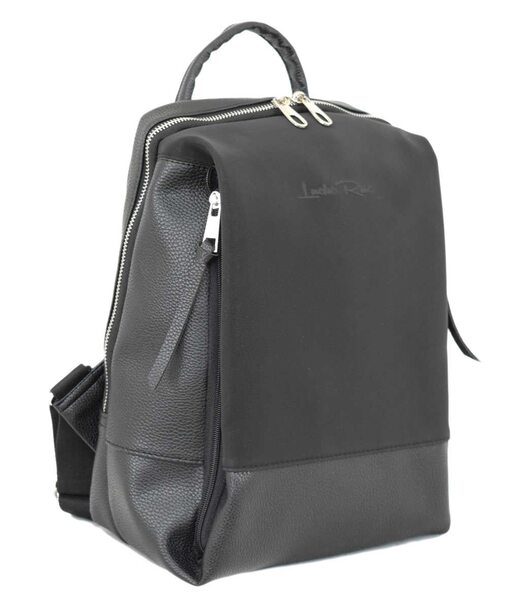 606 рюкзак черный мат велюр н Lucherino