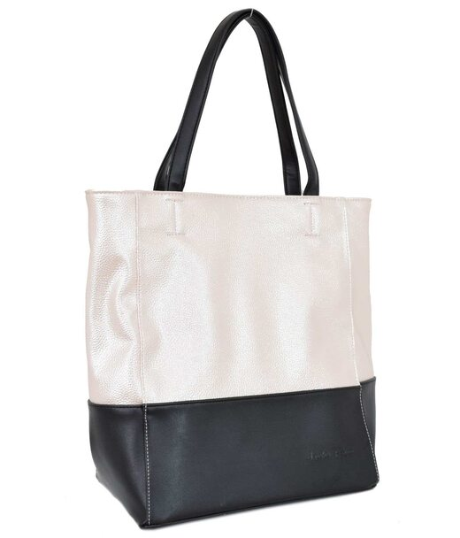 607 сумка чорна перламутр пудра н Lucherino