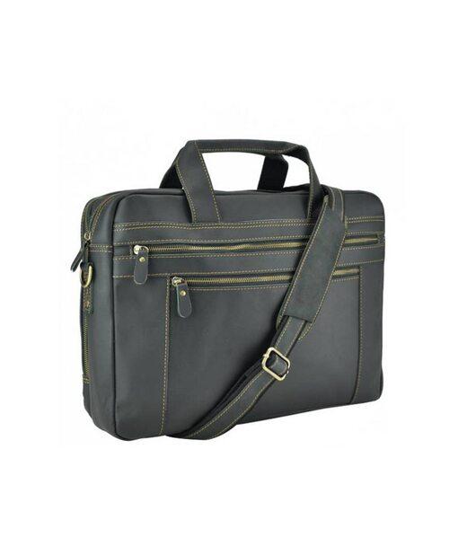 Чорна чоловіча шкіряна сумка Tiding Bag 7319RA