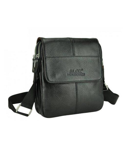 Чорний шкіряний месенджер Tiding Bag A25F-B065A