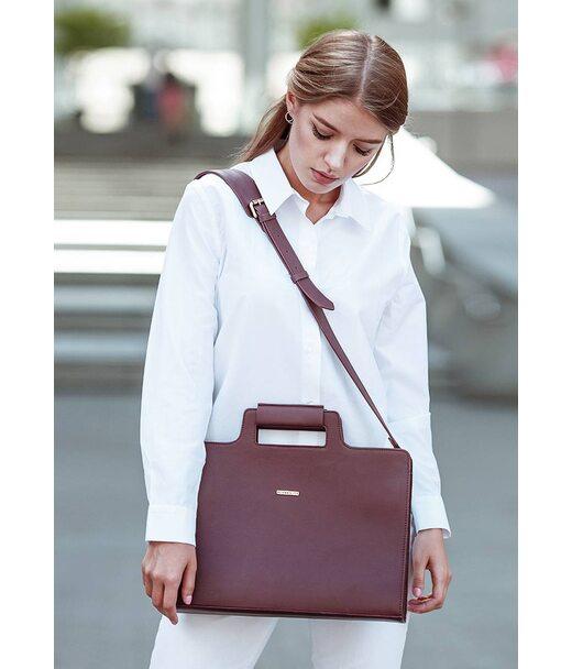 Жіноча шкіряна сумка для ноутбука і документів бордова - BN-BAG-36-vin BlankNote