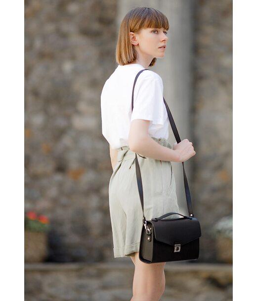 Жіноча шкіряна сумка-кроссбоді Lola чорна - BN-BAG-35-g BlankNote