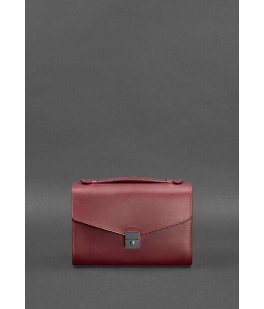 Жіноча шкіряна сумка-кроссбоді Lola бордова - BN-BAG-35-vin BlankNote