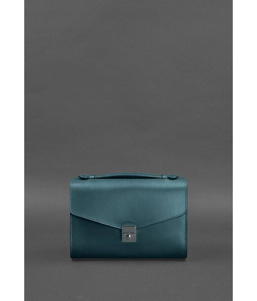 Жіноча шкіряна сумка-кроссбоді Lola зелена - BN-BAG-35-malachite BlankNote