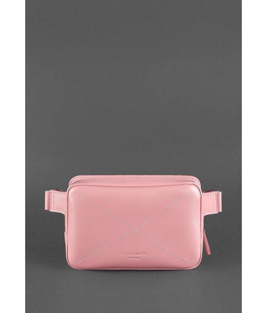 Шкіряна жіноча поясна сумка Dropbag Mini рожева - BN-BAG-6-pink BlankNote